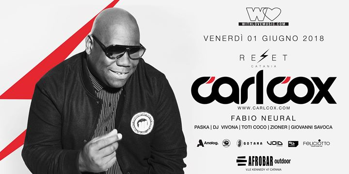 Photo of With Love presents: Carl Cox at Reset Catania