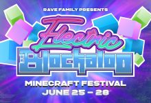 Photo of Blockaloo Electric festival, an event hosted in the world of Minecraft
