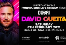 "Photo of ""United At Home"": David Guetta fa tappa a Dubai"